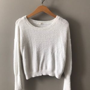 White Garage Sweater
